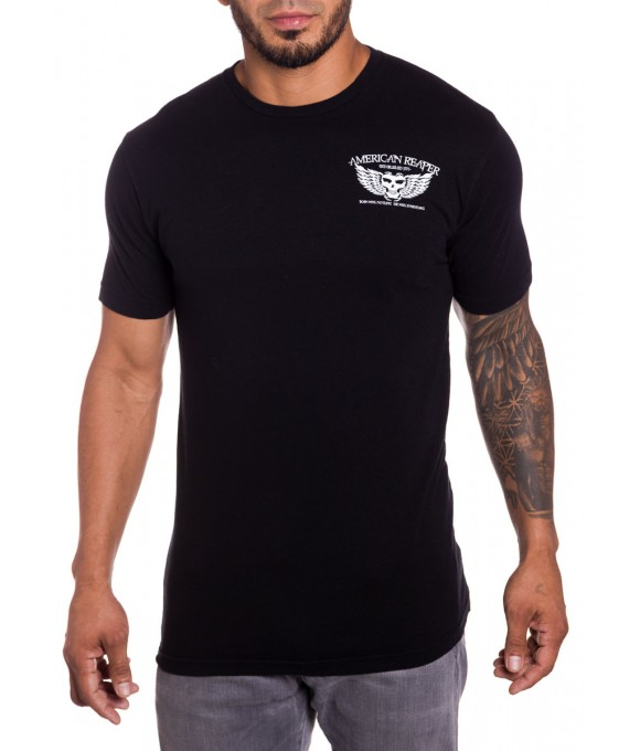 Night Stalker mens Military T-Shirt in Black Front