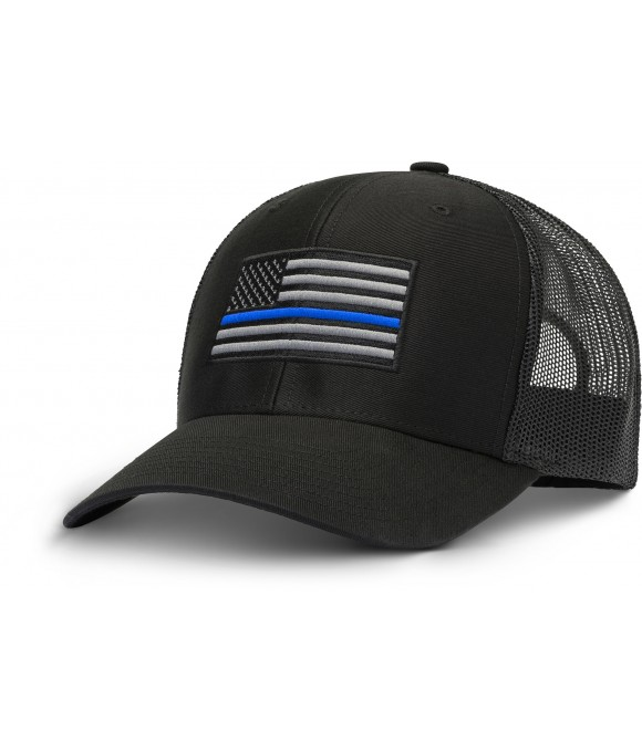 Thin Blue Line Black AR Hat
