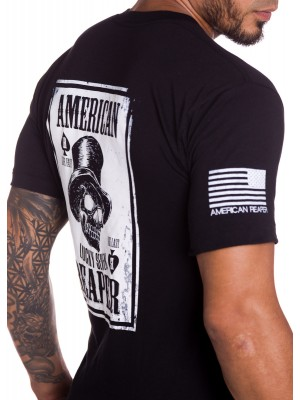 Dead Mans Hand Military T-Shirt Front