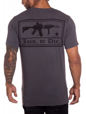 Join or Die Mens Military T-Shirt