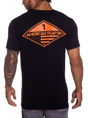 Ranger 1 mens military t-shirt in black front