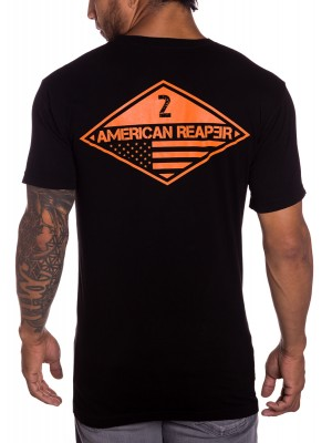 Ranger 2nd Battalion military mens t-shirt in black front