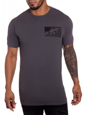 Tradition Mens Military T-shirt Charcoal