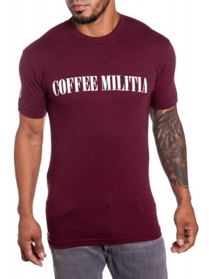 Coffee Militia Mens military t-shirt