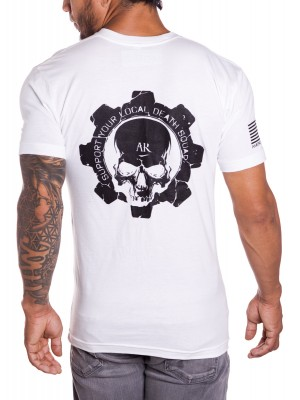 Death Bolt Mens Military T-shirt in White