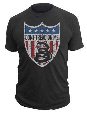 Dont Tread On Me American Badge T-Shirt
