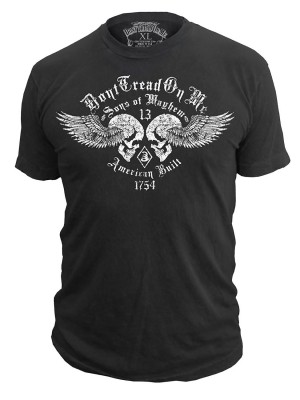 Dont Tread on Me Sons of Mayhem Mens Tshirt in Black