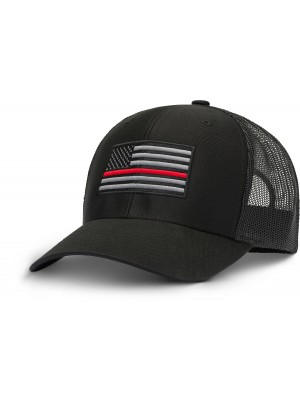 AR Thin Red Line Black Hat