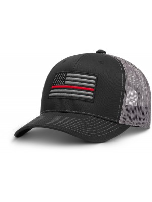 AR Thin Red Line Grey & Black Hat